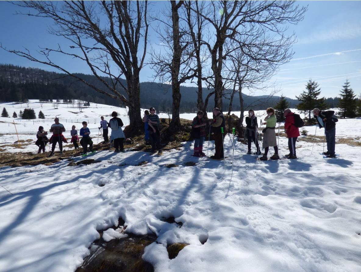 Sortie neige à Bellefontaine mars 2014