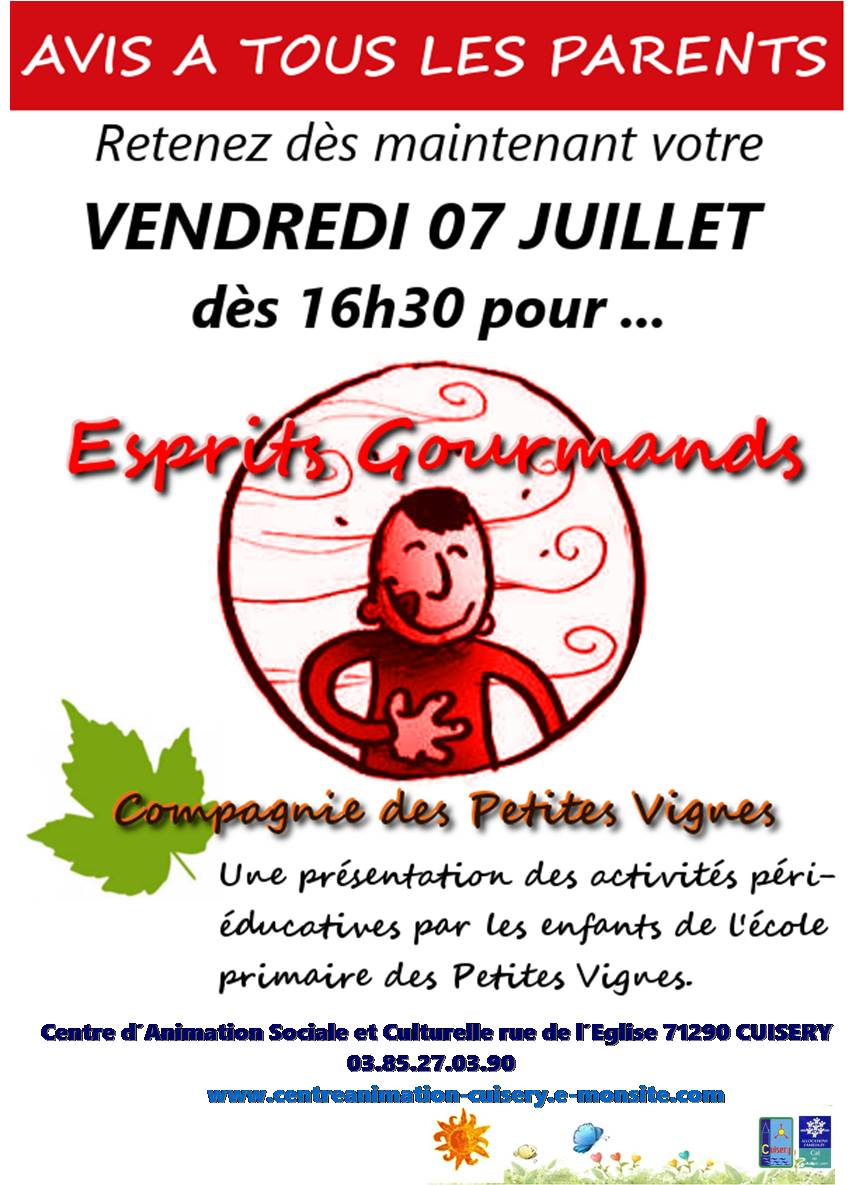 Flyer gourmand