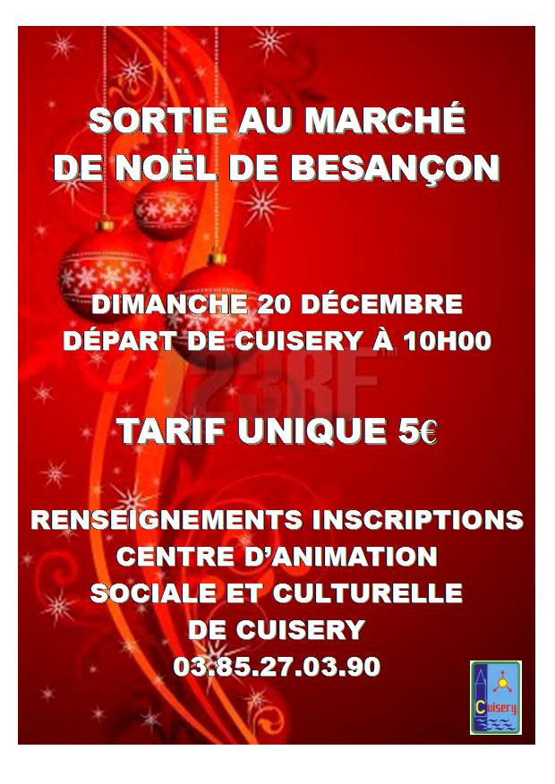 Marché de noël de Besançon