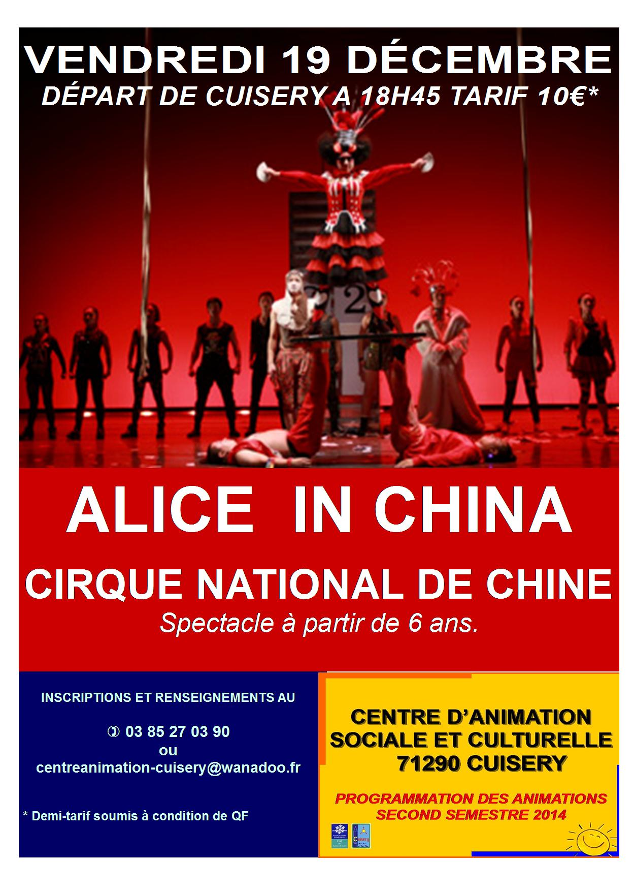 "Nouveau Cirque National de Chine ""Alice in China"""